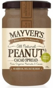 Mayvers Organic Peanut Butter & Cacao Spread 375g