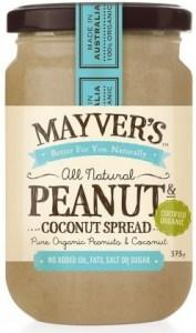 Mayvers Organic Peanut Butter & Coconut Spread 375g