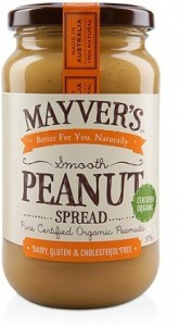 Mayvers Organic Smooth Peanut Butter  375g