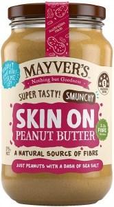 Mayvers Smunchy Skin On Peanut Butter G/F 375g