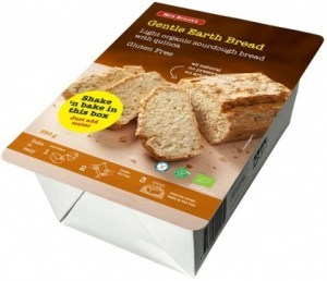 Mrs Brunt's Shake 'n Bake Gentle Earth Bread Light Organic Sourdough Bread w/Quinoa  350g