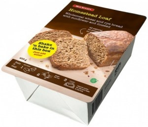 Mrs Brunt's Shake 'n Bake Homestead Loaf Wholemeal Wheat & Rye Bread w/Sunflower & Linseed 400g