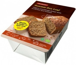 Mrs Brunt's Shake 'n Bake Summer Sun Loaf Organic Sourdough Bread w/Sunflower & Linseeds 400g