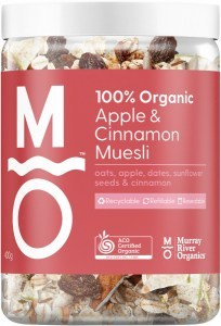 Murray River Organics Organic Apple Cinnamon Muesli 400g Jar