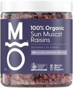 Murray River Organics Organic Australian Sun Muscat Raisins  325g Jar