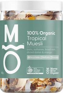 Murray River Organics Organic Tropical Muesli 400g Jar JUL22