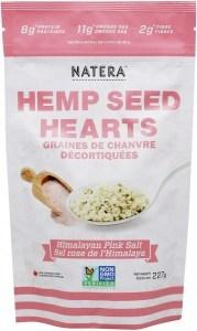 Natera Hemp Seed Hearts Himalayan Pink Salt 227g
