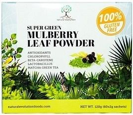Natural Evolution Super Green Mulberry Leaf Powder  (60x2g sachets) 120g