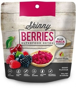 Natural Health Co Skinny Berries Superfood Detox + Maca Powder  160g
