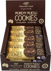 Naturally Good Munchy Muesli Brownie Chomp Cookies 20x30g