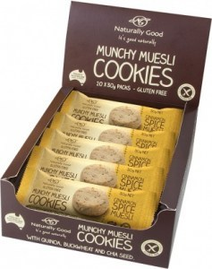 Naturally Good Munchy Muesli Cinammon Spice Cookies 20x30g