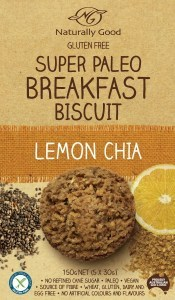 Naturally Good Super Paleo Breakfast Biscuit Lemon Chia 150g (5 x 30g)