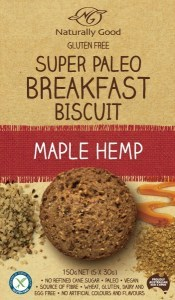 Naturally Good Super Paleo Breakfast Biscuit Maple Hemp 150g (3 x 50g)