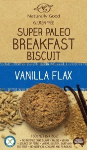 Naturally Good Super Paleo Breakfast Biscuit Vanilla Flax 150g (3 x 50g)