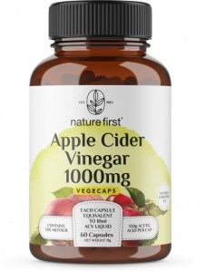 Nature First Apple Cider Vinegar 1,000mg Vege Caps 60Caps