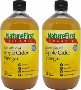 Nature First Organic Apple Cider Vinegar 1L Twin Pack