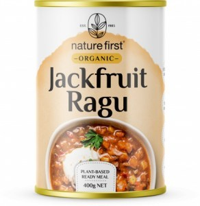 Nature First Organic Jackfruit Ragu Plant Based Ready Meal Can 400g