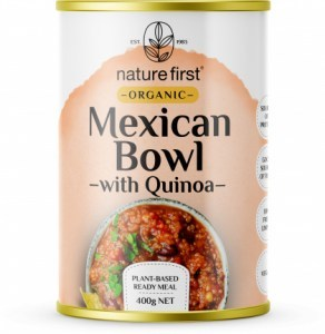 Nature First Organic Mexican Bowl with Quinoa Plant Based Ready Meal Can 400g