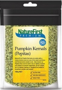Nature First Organic Pumpkin Kernels (Pepitas) Austrian 100g
