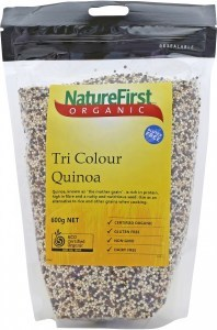 Nature First Organic Quinoa Grain Tri-Colour Bag 600g