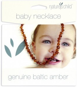 Natures Child Amber Necklace for Baby Cognac