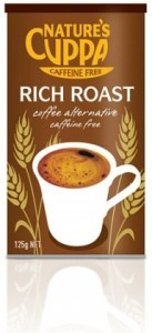 Natures Cuppa Caffeine Free Rich Roast Coffee Alternative 125g