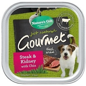 Natures Gift Steak&Kidney with Chia Seed 12x100g