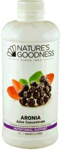 Natures Goodness Aronia (Black Chokeberry) Juice Concentrate 1L
