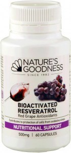 Natures Goodness Bioactivate Resveratrol 500mg 60caps