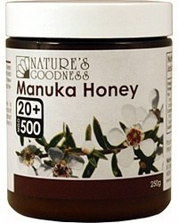 Natures Goodness Manuka Honey 20+ 250g
