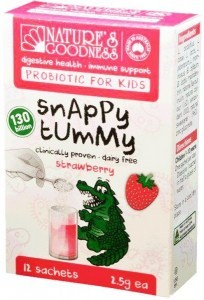 Natures Goodness Probiotic for Kids Snappy Tummy Strawberry 12 Sachets