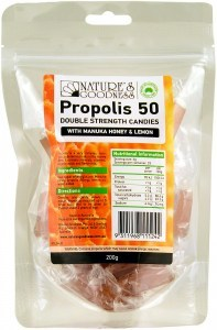 Natures Goodness Propolis Candy with Honey & Lemon 200g