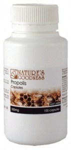 Natures Goodness Propolis Capsules 500mg 100caps