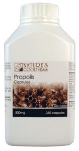 Natures Goodness Propolis Capsules 500mg 365caps