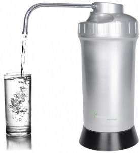 Naturopaths Choice MinWell+ Bench Top Alkaline Water Filter Silver/Black