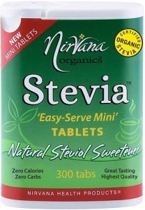 Nirvana Organics Stevia 'Easy-Serve-Mini' Tablets 300Tabs