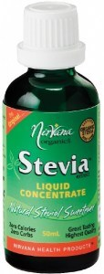 Nirvana Organics Stevia Liquid Concentrate 50mL