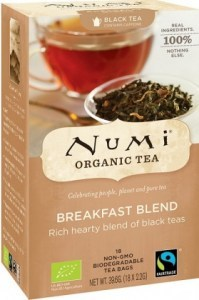 Numi Organic Tea Breakfast Blend 18 Teabags