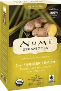 Numi Organic Tea Decaf Ginger Lemon 16Teabags
