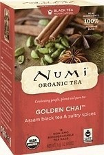 Numi Organic Tea Golden Chai 18 Teabags