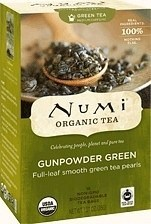 Numi Organic Tea Gunpowder Green 18 Teabags