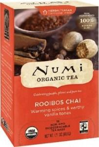 Numi Organic Tea Rooibos Chai 16 Teabags