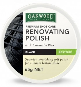 Oakwood Shoe Renovating Polish Black 65g