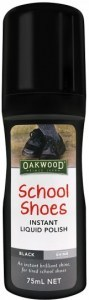 Oakwood School Shoes Instant Liquid Polish Black 75ml