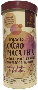 Orgamix Organic Cacao Maca Chia + Goji + Carrot Powder  200g