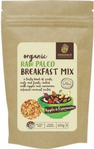 Orgamix Organic Raw Paleo Breakfast Mix Apple & Cinnamon G/F 400g