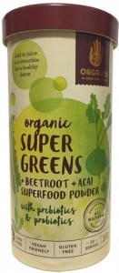 Orgamix Organic Super Greens + Beetroot+ Acai Powder  200g