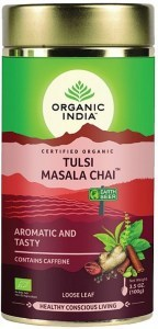 Organic India Tulsi Chai Masala Tea Tin 100g