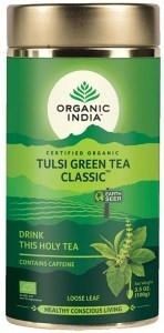 Organic India Tulsi Green Tea Tin 100g