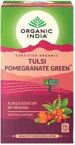 Organic India Tulsi Pomegranate Green Tea 25Teabags